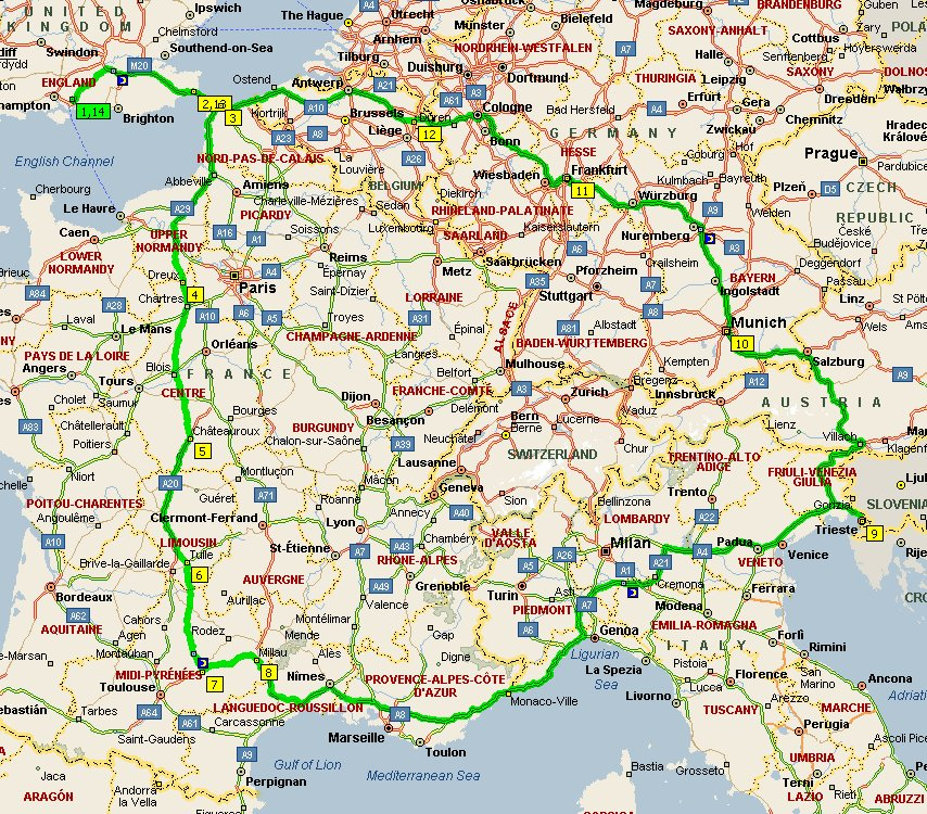 South Of France And Italy Map.April 2007 Millau Viaduct South Of France And Italy Martin Selway
